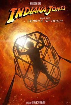 Indiana Jones and the Temple of Doom Poster by DanieleRedRossini.deviantart.com on @DeviantArt