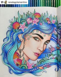 Summer seaStunning coloring by @renatagclementino from my coloring book Dagdrömmar/Daydreams. #inspiration #dagdrömmar #hannakarlzon #daydreams #adultcoloringbook #coloring #repost #målarbok Order the swedish editions of my books using the link in my profile or pre-order the english edition at Amazon.