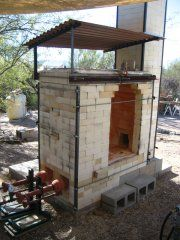 Cross-Draft Soda Kiln, this is an example of a kiln that will be available for students to use during this project at the school of art.
