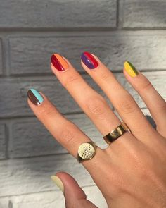 Nagellack Design, Nagellack Trends, Minimalist Nails, Stylish Nails, Trendy Nails, Essie, Funky Nails, Funky Nail Art, Fire Nails