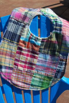 Colorful Patchwork Quilted Plaid Baby Toddler by LePetiteBirdie, $7.50