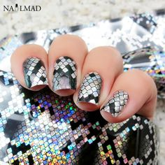 1 roll 4*100CM Holographic Nail Foils Snake Skin Foils Nail Art Transfer Foil Transfer Sticker *** Read more reviews of the product by visiting the link on the image.