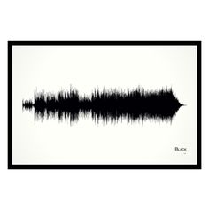 """Black - 11x17 Framed Soundwave print. Pearl Jam inspired Soundwave print. Framed and ready-to-hang. 11"""" x 17"""" black wood frame. Limited quantity is hand-numbered by the artist. One of only 50 ever printed. American made. Eddie Vedder explained in the Pearl Jam 20 documentary that this song is about first relationships. """"The song is about letting go,"""" said Vedder. """"It's very rare for a relationship to withstand the Earth's gravitational pull and where it's going to take people and how…"""