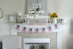 Patriotic Flag Banner from Glamorous, Affordable Life