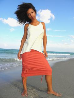 The Sukha Drawstring Skirt in 100 Organic by Gratefulthreads, $130.00  http://www.etsy.com/listing/71547667/the-sukha-drawstring-skirt-in-100?