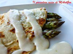 Il Pomodoro Rosso di MAntGra: Crêpes agli asparagi e crema di Parmigiano Reggiano