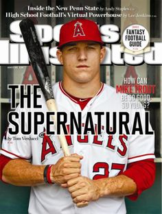 Mike Trout - Los Angeles Angels - Cover of Sports Illustrated Mike Trout, Hockey, Baseball Players, Baseball Cards, Baseball Stuff, Baseball Today, Baseball Boys, Baseball Photos, Fantasy Football Guide