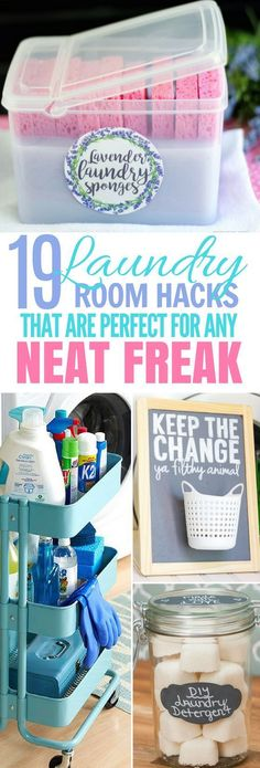 These 19 Laundry Room Hacks Are UNBELIEVABLE! I wish I had thought of these sooner! #bathroomcleaning