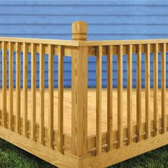 Deck Railing Ideas Discover WeatherShield 2 in. x 2 in. x 42 in. Wood Pressure-Treated Mitered Baluster - The Home Depot Wood Porch Railings, Deck Balusters, Deck Railing Design, Deck Design, Railings For Decks, Deck Railing Ideas Diy, Wood Handrail, Stair Design, Deck Stairs