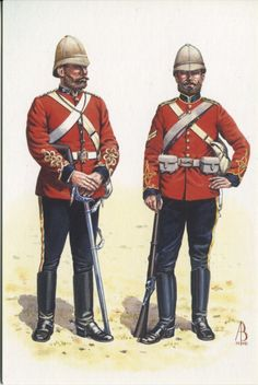 Captain and Corporal 1st (King's) Dragoon Guards, Zulu War 1879