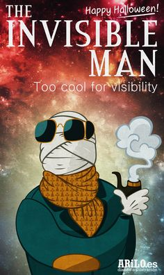 - The invisible man (classic horror films by arilo. Invisible Man, Horror Films, Happy Halloween, Illustration, Classic, Movie Posters, Movies, Art, Illustrations