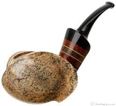 Daniel Mustran Smooth Blowfish with Padauk and Morta Pipes at Smoking Pipes .com