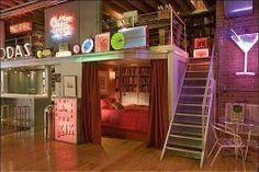 80's themed bedroom
