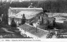 Abbazia delle Tre Fontane 1912 Cabin, House Styles, Outdoor, Painting, Castle, Rio De Janeiro, Past, Rome, Pictures
