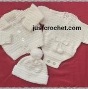 You're going to love Boys outfit Baby Crochet Pattern by designer justcrochet. Crochet Coat, Crochet Bebe, Baby Girl Crochet, Crochet Baby Clothes, Crochet For Boys, Crochet Hooks, Jacket Outfit, Crochet Patron, Baby Shawl