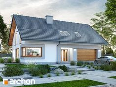 Projekt domu Dom w zdrojówkach - ARCHON+ I Love House, Home Fashion, Traditional House, House Plans, Pergola, Bungalow, Shed, Outdoor Structures, Exterior