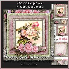 So lacy Cardtopper with inlet 167 on Craftsuprint - Add To Basket!