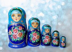 Nesting Doll with floral ornament