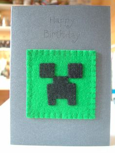 Birthday Card - Minecraft Creeper