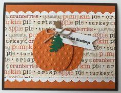 "Handmade ""Thanksgiving"" Card, Harvest, Pumpkin, Thanksgiving… – Do it yourself Thanksgiving Greeting Cards, Holiday Cards, Happy Thanksgiving, Handmade Thanksgiving Cards, Thanksgiving Verses, Thanksgiving Blessings, Thanksgiving Traditions, Thanksgiving Parties, Valentine Cards"