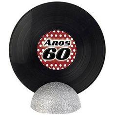 Enfeite de Mesa Disco de Vinil GRANDE - Anos 60