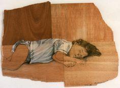 Oli on Wood by Carlota Delgar from Catalunya #Oil peinteur #Pintura a l'Oli #Art #Fusta #Dibuix i Pintura #Dibujo y Pintura #Babies #infants #children