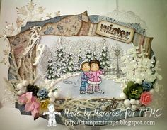 winter scene edwin and tilda ice skating for time for magnolia challenge blog and Stamps - Scraps
