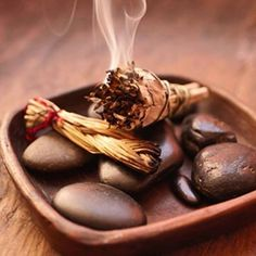 The ritual of smudging with sage and sweetgrass clears negative energy while attracting positive energy.
