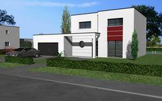 Clara Design est un modèle de maison de style moderne. Elle possède 5 pièces pour une surface de 115 m². Gamme design - Maisons HCC
