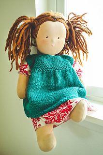 Ravelry: Waldorf Doll Knit Pinny pattern by Sweet Sassafras