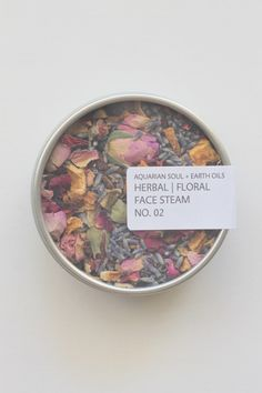 aquarian soul + earth oils herbal | floral face steam no. 01