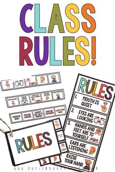 Visual rules for special education classroom or autism program. Classroom Rules, Autism Classroom, Special Education Classroom, Education Quotes For Teachers, Quotes For Students, Primary Education, Teacher Quotes, Classroom Setup, Classroom Activities