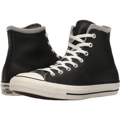 Converse CTAS Hi (Black/Egret/Dolphin) Men's Lace up casual Shoes ($35) ❤ liked on Polyvore featuring men's fashion, men's shoes, men's sneakers, shoes, black, mens leopard print shoes, mens black sneakers, mens leather shoes, mens sneakers and mens leather sneakers