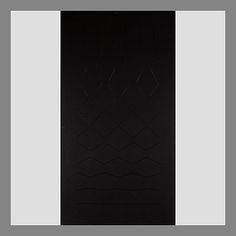 Matti Kujasalo: Mustaa mustalle, 1977, öljy, liimattu levylle, 113x61 cm - Bukowskis Bukowski, Rugs, Finland, Paintings, Artists, Image, Design, Home Decor, Black