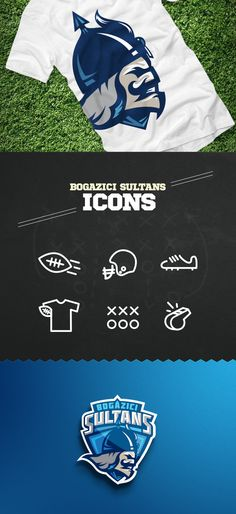 BOGAZICI SULTANS American Football Team Branding by Mete Eraydın, via Behance