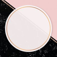 Round frame on two tones background vector   premium image by rawpixel.com / marinemynt Pink And Gold Background, Black Marble Background, Instagram Frame, Instagram Logo, Collage Background, Notes Design, Beauty Logo, Two Tones, Circle Pattern
