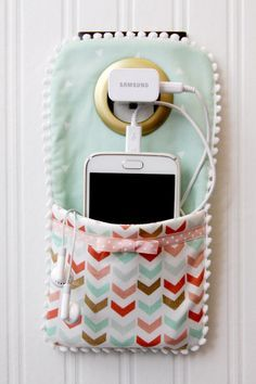Cell phone wall pocket