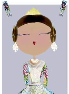 Herminia Esparza Ilustración : Relax post fallero Valencia Spain, Spanish Lessons, Vintage Posters, Relax, Machine Embroidery, Disney Characters, Fictional Characters, Snow White, Character Design