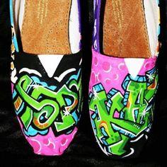 #graffiti hand painted toms
