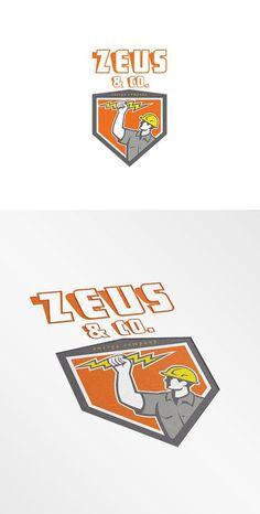 Zeus and Co Energy Company Logo by patrimonio on @creativemarket