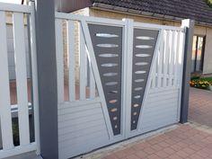 Portail Aluminium  www.toriportails.be Home Gate Design, Grill Gate Design, House Main Gates Design, Balcony Grill Design, Steel Gate Design, Front Gate Design, Door Design Interior, Garage Door Design, Main Door Design