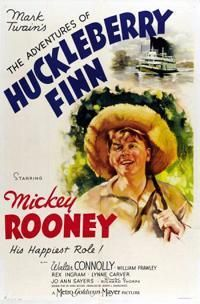 The Adventures of Huckleberry Finn is a 1939 film adaptation of Mark Twain's classic novel of the same name, starring Mickey Rooney in the title role. The supporting cast features Walter Connolly, William Frawley and Rex Ingram. Old Movies, Vintage Movies, Movies 2014, Vintage Art, William Frawley, Adventures Of Huckleberry Finn, Classic Movies, Cool Things To Buy, Movie Posters