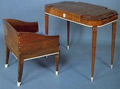 Leon Emile Bouchet Coiffeuse En Placage De Palissandre Palissandre Massif Et Ivoire Art Nouveau Furniture Furniture Art Decor