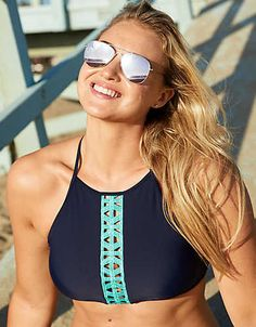 Aerie Crop Bikini Top + Crochet | 46,66$ | American Eagle Outfitters
