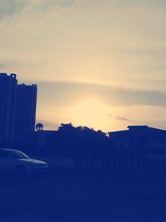Captured the sunset.