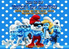 Smurfs Birthday Party Invitation  Printable by FunPartyInvitation, $7.99