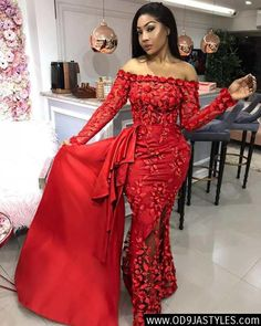 Most Beautiful Dinner Gowns of 2018 – African Fashion Dresses - 2019 Trends African Wear Dresses, African Attire, African Clothes, Nigerian Dress Styles, Dinner Gowns, Dinner Wear, African Lace Styles, Lace Dress Styles, Africa Dress