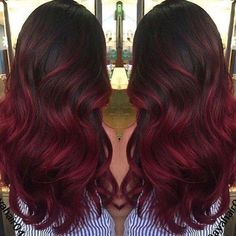 There are so many shades of burgundy to choose from, so before dying your hair check on color charts to find one that's perfect for your skin tone. Some of the pretty cooler burgundy hair shades that contain lots of red and violet look best on people with pink, olive or ebony skin tones.