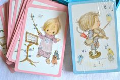 Vintage Playing Cards   Betsey Clark Double by Pumpkintruckpaper