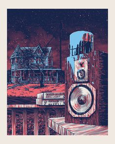 Seattle poster designer, illustrator, and screenprinter Barry Blankenship The Burbs Movie, Illustrations, Illustration Art, The 'burbs, Cult Movies, Films, Horror Show, Film Posters, Cover Art